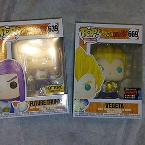 Funko Pop Dragon ball z Vegeta and trunks